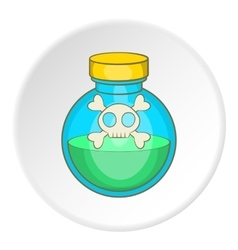 Bottle of poison icon cartoon style vector