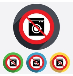 Do not wash washing machine icon vector