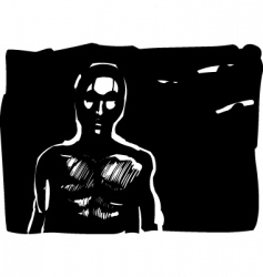 man contour sketch vector image