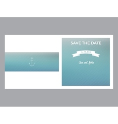 Save the date marine card vector