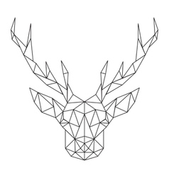 Polygonal deer head creative art icon stylized vector