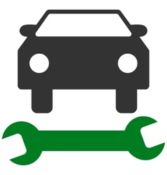 Car repair flat symbol vector