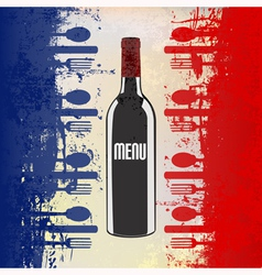 French wine menu template vector
