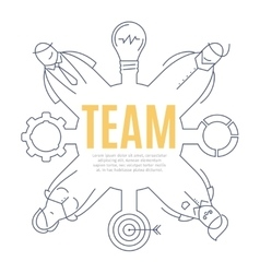 Team line art design concept vector