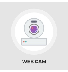 Web cam flat icon vector