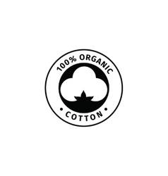 Natural organic cotton label vector