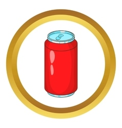 Aluminum beverage bank icon vector