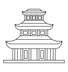 Buddhist temple icon outline style vector image vector image