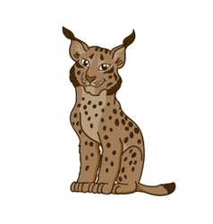 Cartoon caricature lynx vector