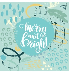 Christmas card template for holiday design vector image vector image