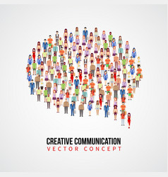 communication concept people crowd in vector image vector image