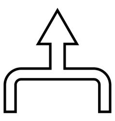 Connect arrow up contour icon vector