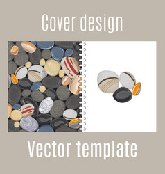 Cover design with river stones pattern vector
