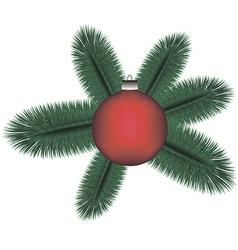 Cristmas tree v vector image vector image