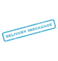 Delivery insurance rubber stamp vector