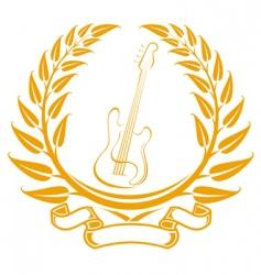 electro guitar symbol vector image vector image