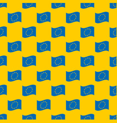 european union flag seamless pattern vector image