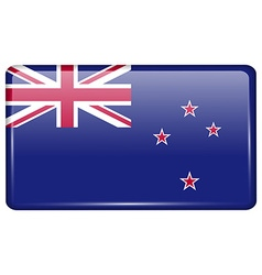 Flags New Zeland in the form of a magnet on vector image