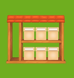 Game wooden store window vector image vector image