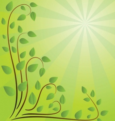Green background with branches illustration vector