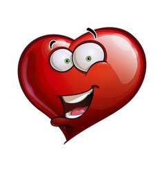Heart faces happy emoticons hello vector
