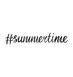 lettering summer time Hand Drawn Lettering vector image vector image