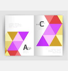 modern business brochure or leaflet print cover vector image vector image