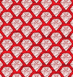 red cartoon diamond background vector image vector image