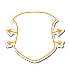 shield frame security label design vector image