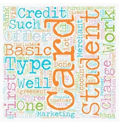 Student credit card 101 text background wordcloud vector