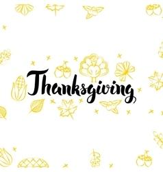 Thanksgiving Golden Greeting Postcard vector image vector image