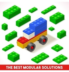 Toy Block Car Games Isometric vector image vector image