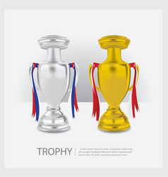 Trophy cups and awards vector