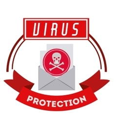 virus protection design vector image