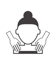 Woman getting massaged icon vector