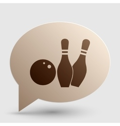 Bowling sign  brown gradient icon on vector