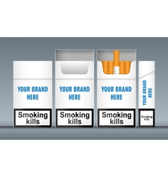 Digital white cigarette pack mockup vector