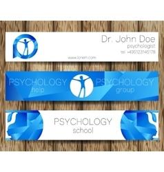 Psychology web banner design background or vector