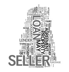 Yes the seller can get a new loan text word cloud vector