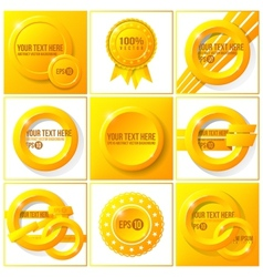 Orange abstract set of backgrounds for your design vector image