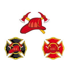 Firefighters symbols vector image