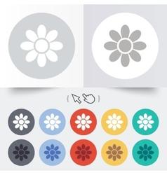 Flower sign icon blossom symbol vector