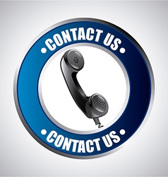 contact us design vector image
