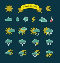 Season and weather icons vector