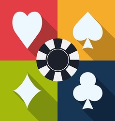 Casino game design vector