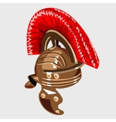 Bronze helmet the item of knight armour vector