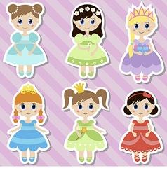 Beautiful princesses vector image vector image