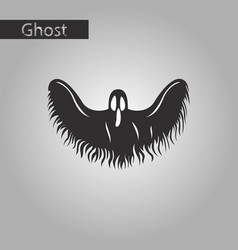 black and white style icon of ghost vector image vector image