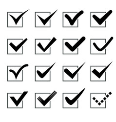 black check marks in boxes vector image