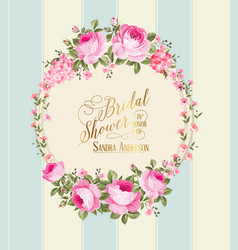 Border of flowers vector